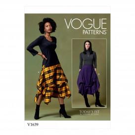 patron jupe Vogue V1639
