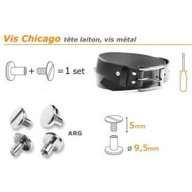 bouton vis chicago 5/9,5mm à l'unité