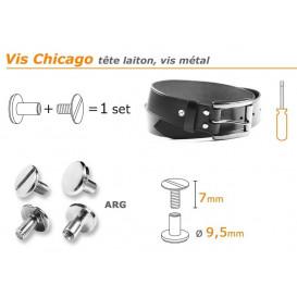 bouton vis chicago 7/9,5mm à l'unité