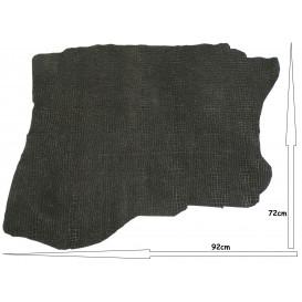 coupon cuir véritable croco noir pailleté 72cmx92cm