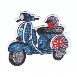 écusson scooter drapeau anglais thermocollant
