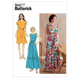 patron robe et ceinture Butterick B6677