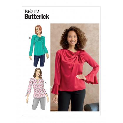 patron haut ample Butterick B6712
