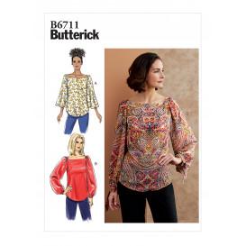 patron haut Butterick B6711