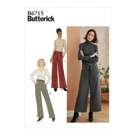 patron pantalon, ceinture Butterick B6715