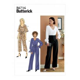 patron combinaison grande ceinture Butterick B6716