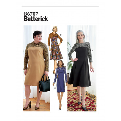 patron robe ajustée Butterick B6707