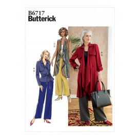 patron veste, manteau, gilet Butterick B6717
