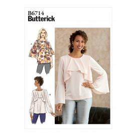 patron haut Butterick B6714