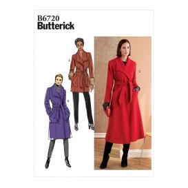 patron vêtement de dessus et ceinture Butterick B6720