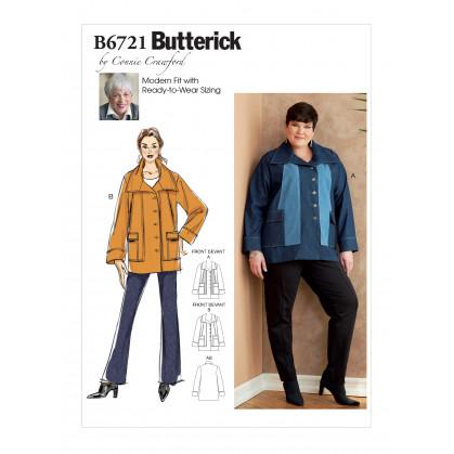 patron vêtement de dessus Butterick B6721