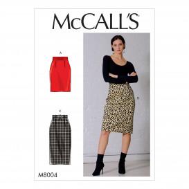 patron jupes et ceinture McCall's M8004