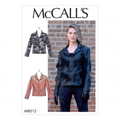 patron vestes McCall's M8012