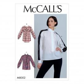 patron chemisiers McCall's M8002