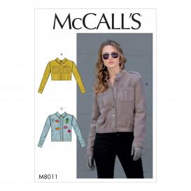 patron vestes McCall's M8011