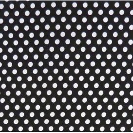 coupon 0,20mx1,50m tissu coton gris foncé pois 9mm