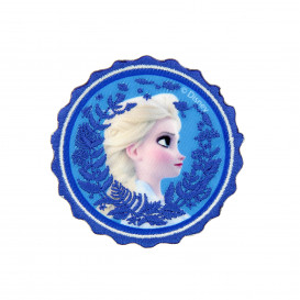 écusson disney elsa la reine des neiges 2 rond thermocollant