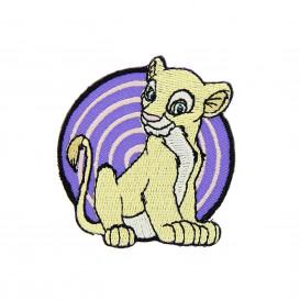 écusson disney le roi lion nala rond thermocollant