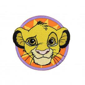 écusson disney le roi lion tête de simba rond thermocollant n°2