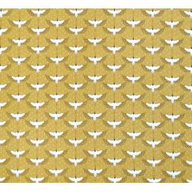 tissu coton grue noisette largeur 150cm x 50cm