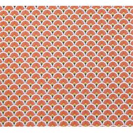tissu coton éventail rouge brique largeur 150cm x 50cm