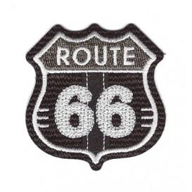 écusson route 66 noir thermocollant