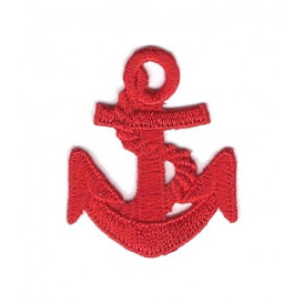 écusson ancre marine rouge thermocollant