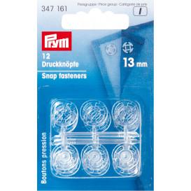 12 boutons pression plastique à coudre 13mm