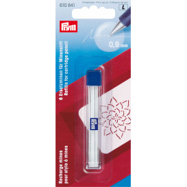 recharge pour stylo à mines extra fin 0,9mm blanc