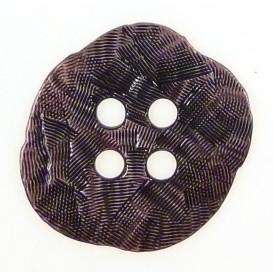 bouton métal irregulier vieux rose 35mm