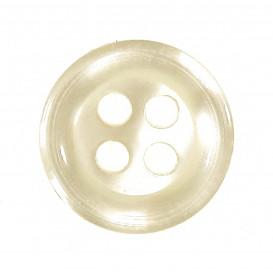 bouton 4 trous rond écru nacré 9mm