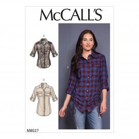 patron haut moulant McCall's M8027