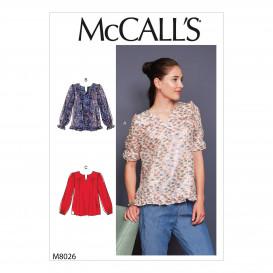 patron haut très ample McCall's M8026