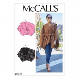patron capes et ceinture McCall's M8029