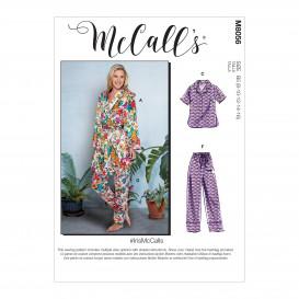 patron robe de chambre, hauts, short McCall's M8056