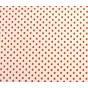 coupon coton blanc coeurs 5mm