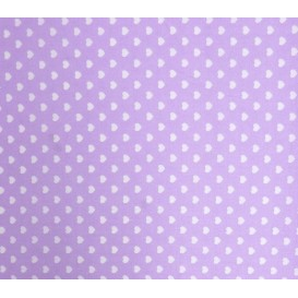 coupon coton lilas coeurs 5mm