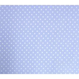 coupon coton bleu clair pois 2mm
