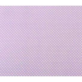 coupon coton lilas pois 2mm