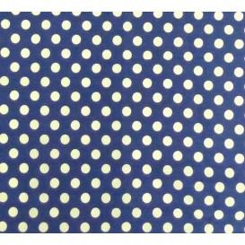 coupon coton bleu roi pois 9mm