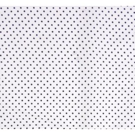 coupon coton blanc pois noir 2mm