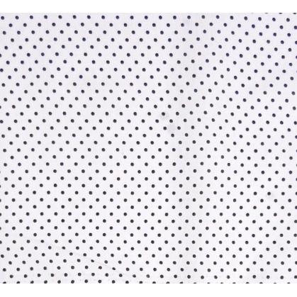 coupon coton blanc pois noir 2mm