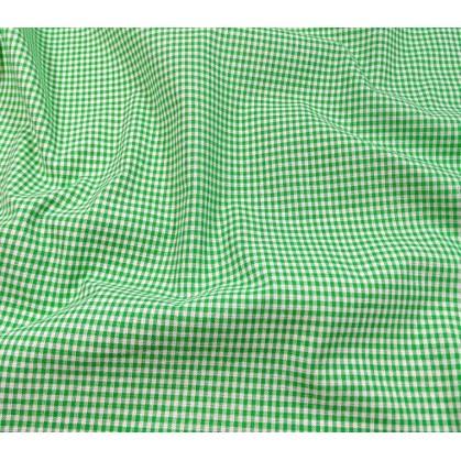 coupon coton vichy 2mm vert
