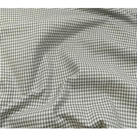 coupon coton vichy 2mm gris