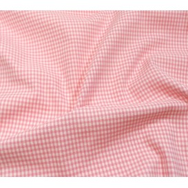 coupon coton vichy 2mm rose
