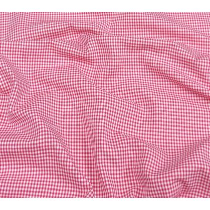 tissu vichy 2mm fuchsia largeur 140cm x 50cm