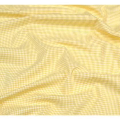 tissu vichy 2mm jaune largeur 140cm x 50cm