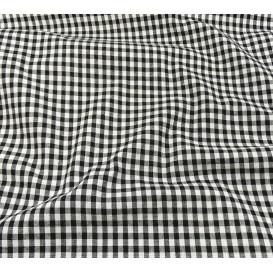 coupon coton vichy 4mm noir