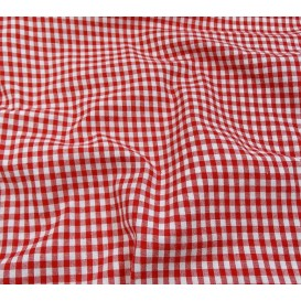 coupon coton vichy 4mm rouge