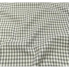 coupon coton vichy 4mm gris